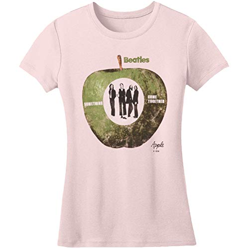 Camiseta The Beatles Something/Come Together para Mujer, Rosa, 36