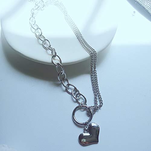 LFWQ Vintage Europese en Amerikaanse hart gevormde liefdesbrief hanger overdreven ketting roest staal titanium staal perzik hart ketting