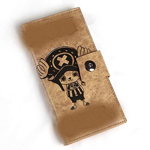 pZgfg Anime Purse Wallet Retro Pu-Leder Magnetschnalle Multi-Karten-Position Brieftasche Student Brieftasche One Piece-Chopper