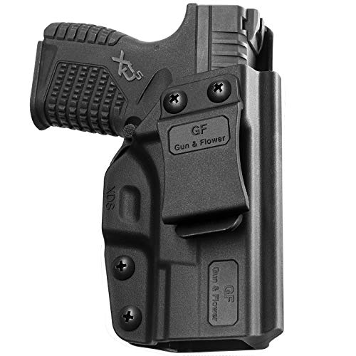 "Springfield XD-S Holster, Polymer IWB Holster Fits Springfield XD-S 3.3"" 9mm/.40S&W/.45ACP Concealed Carry for 9mm Pistol, Gun Holster for Men/Women |Adj. Cant & Retention | Adj. Belt Clip"