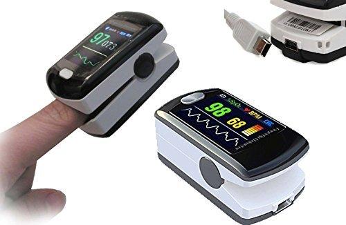"""Contec cms50e oxímetro de pulso spo2saturación de oxígeno pantalla OLED a color 1.3""""Heart Rate Monitor en tiempo real transmisión de datos USB libre PC Software"""