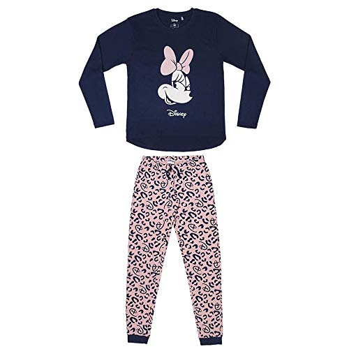 Cerdá - Pijama Minnie Mouse Mujer de Leopardo - Licencia Oficial Disney