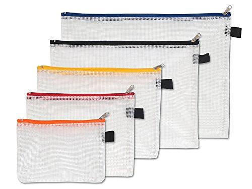 NIPS 104145001 utensilios de bolsas de tela de plástico reforzado con cierre de cremallera 5-Set