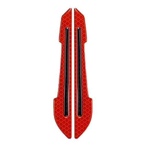 MRDUEWS 2 PCS Etiquetas engomadas reflectantes para automóvil, protección del borde de la puerta de automóvil, reflectante, etiqueta engomada anti-colisión, espejo retrovisor, pegatina reflectante, pr