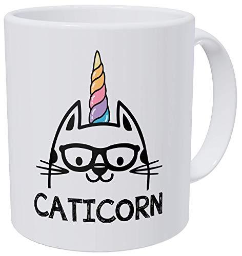 Ich bin eine Caticorn Katze und Brille Einhorn lustige Kaffeetasse
