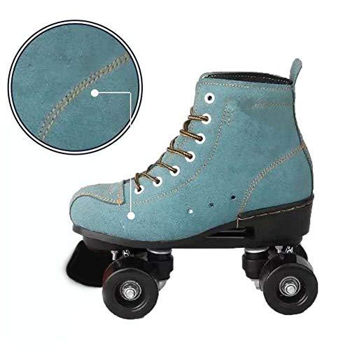 Roller Skates Passend Für Mode-Ikone Anfänger Und Junge Mädchen Vier Runden Rollschuhe Doppelreihe Rollschuhe Outdoor-Sportarten Rollschuhe,D,38