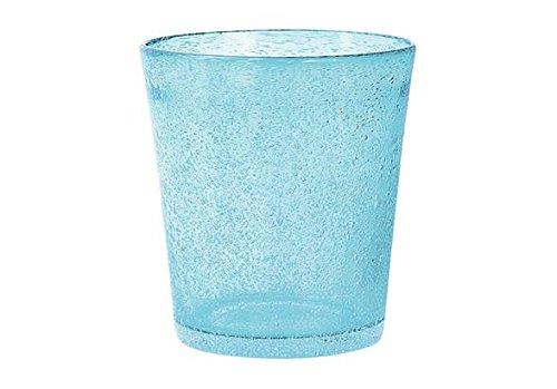 H&H Giada Bicchiere Giada Bibita, 46 cl, Vetro, Azzurro, 1 pezzo