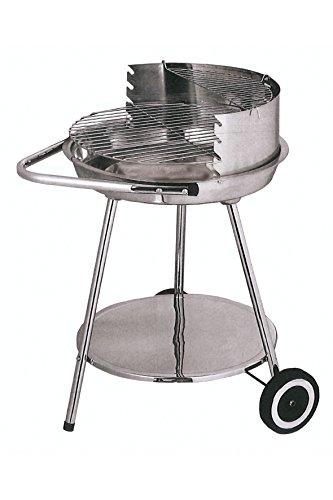 Galileo Casa 2179232 Barbecue, Tondo, Acciaio Cromato, 50 x 82 cm, Grigio