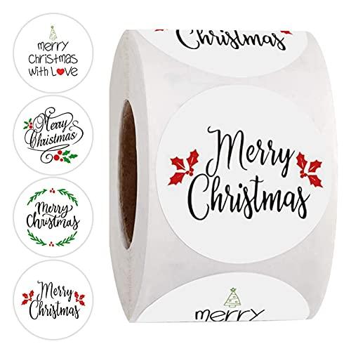 500pcs Favores Navideños Pegatinas,Pegatinas De Merry Christmas De Navidad Etiquetas Autoadhesivas En...
