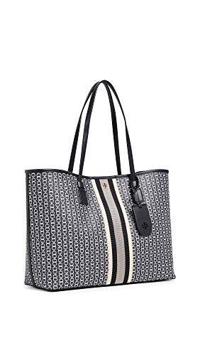Tory Burch Women's Gemini Link Canvas Tote, Black, One Size