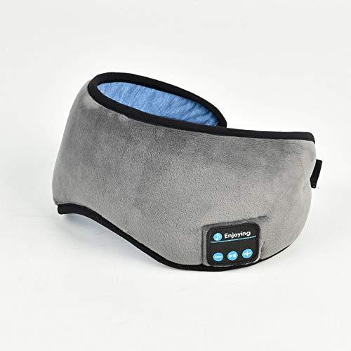 FHW MáScara para Dormir 3D InaláMbrica Bluetooth 5.0, Gafas De MúSica, Gafas De ProteccióN Inteligentes InaláMbricas, Gafas para Dormir, CóModas Y Transpirables, Ayuda para Dormir,Gris