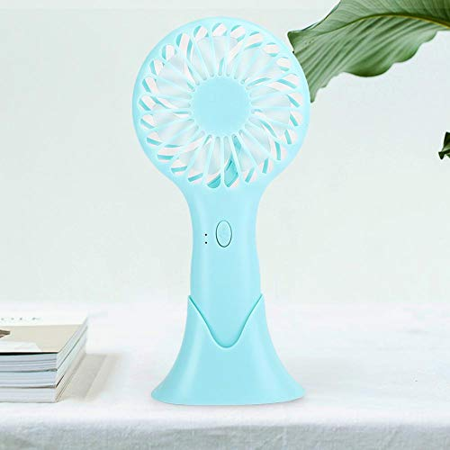 Huakii Handheld 3-Speed Fan, Small Fan, Built-in Large-Capacity Battery Mini Fan, Indoor for Office Outdoor for Home(Green)