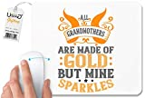 UDNAG White Mousepad 'Grand Mother | All Grandmothers are Made of Gold, but Mine Sparkles' for Computer/PC/Laptop [230 x 200 x 5mm]