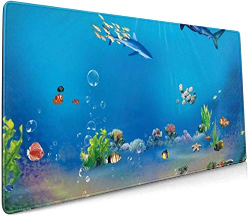 Mooie Mozaïeken Decoupeerzaag Profional Grote Muis Pad Toetsenbord Pad Lange ed Multifunctionele Computer Game Muis Mat Eén maat Beautiful Ocean Underwater World