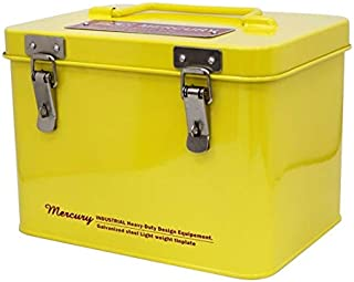 キーストーン 収納ボックス イエロー サイズ:W21.8×D11.5×L15.5cm(除く持ち手) マーキュリー NEW スクエアツールボックス