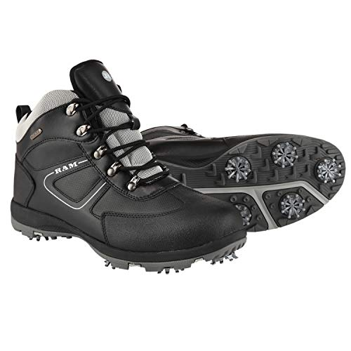 Photo of Ram Golf Waterproof Winter Leather Golf Boots- Size 9