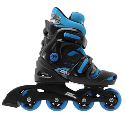 No Fear Kinder Inline-Skater Rollschuhe für Kinder, schwarz / blau