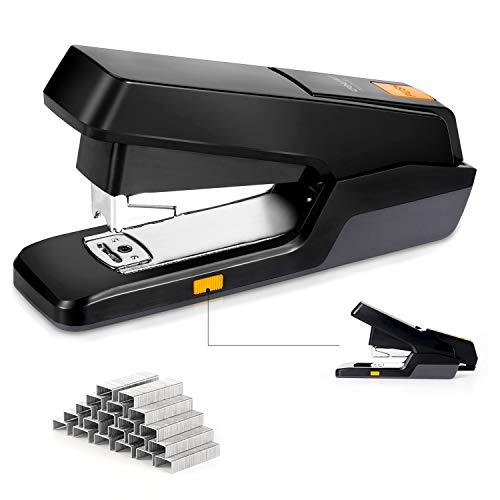 Leven Two Modes Adjustable Desktop Stapler, Effort-Saving 20/40 Sheet Capacity, One Finger Touch Stapling, Easy to Load Ergonomic Heavy Duty Stapler, Includes 1000 Staples