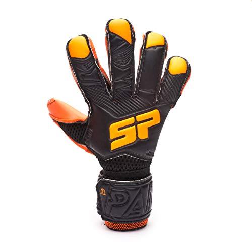 SP Fútbol Pantera Fobos Iconic Niño, Guante de Portero, Black-Orange, Talla 6