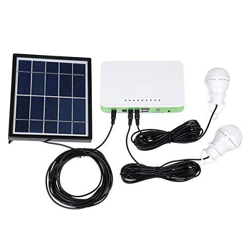 Inversor de energía, Bombilla LED USB lámpara de energía Solar de Cargador de Almacenamiento del Sistema generador de energía del Panel Exterior