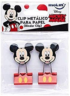Binder Clips Mickey Mouse Molin 25mm 2 Unidades