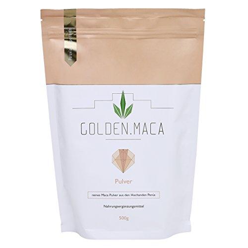 GOLDEN MACA Pulver 500g vegan natürliches Premium Maca-Pulver original aus Peru