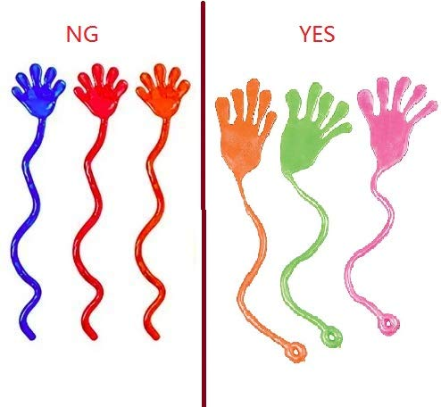 Tuko 20PCS Sticky Hands, Sticky Fingers,Kids' Party Favor Sets, Fun Toys, Party Favors, Wacky Fun Stretchy Glitter Sticky Hands, Party Favors, Birthday Parties, Toys for Sensory Kids,20PCS