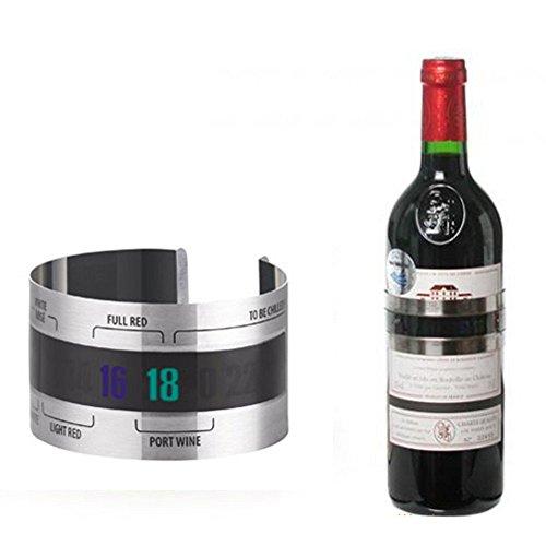 XUENI Rode Wijn Temperatuur Sensor RVS Wijn Armband Thermometer 4-26 Centigrade Degree