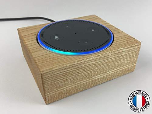 Tischständerhalterung aus Holz für Amazon Echo Dot (2. Generation) Dekorative Schutzhülle aus Eschenholz - Französische Herstellung