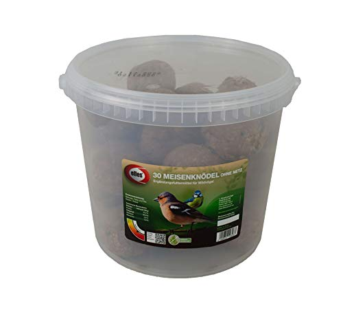 Elles Meisenknödel ohne Netz - 30 Stück - Vogelfutter Wildvogelfutter Ganzjahresfutter