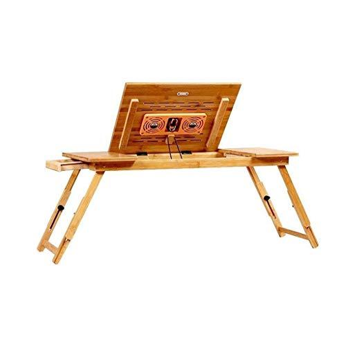 Diaod Ordenador portátil Escritorio portátil, Bandeja de la Cama de bambú con Robusta de Almacenamiento Neto, Superficial del sostenedor, Ajustable