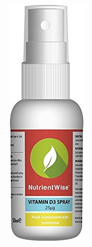 Spray De Vitamina D Nutrient Wise - Suplemento - Sabor Menta - 50ml