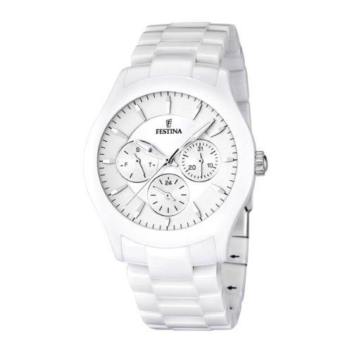 Festina Unisex Analog Quarz Uhr mit Keramik Armband F16639/1