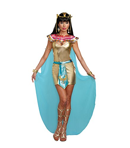 Dreamgirl Women's Cleopatra Egyptian Queen Costume, Gold, X-Large