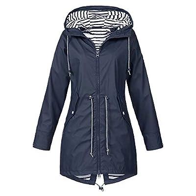 Londony ??? Womens Fashion Design Waterproof Raincoat Windproof Outwear Military Anorak Safari Hoodie Jacket