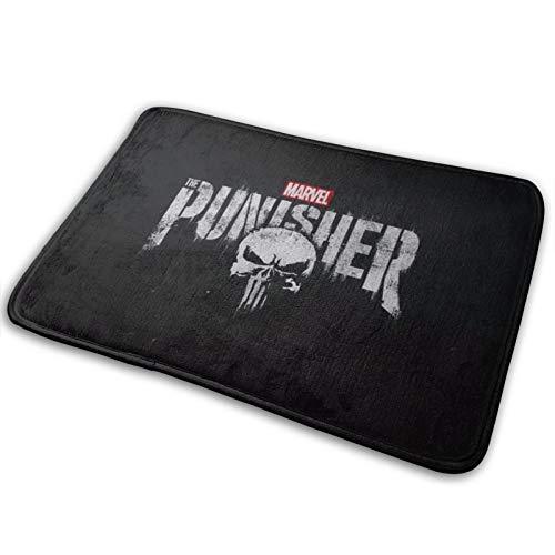 Marvel Punisher - Alfombra de baño y puerta de espuma viscoelástica antideslizante y absorbente, muy cómoda alfombra de baño de franela, 60 x 40 cm