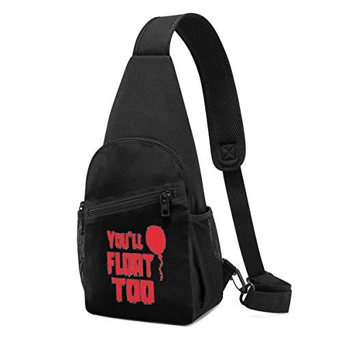 JHUIK Sie werden zu Unisex Outdoor Sling Bag Brust Schulter Rucksack Umhängetaschen schweben