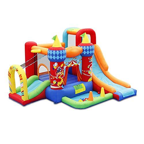 Inflable Jump 'N Slide casa de la despedida con el soplador de alta resistencia, casa de la despedida inflable castillo de salto de diapositivas, navidad regalo Trampolín, Splash Pool pared Suba