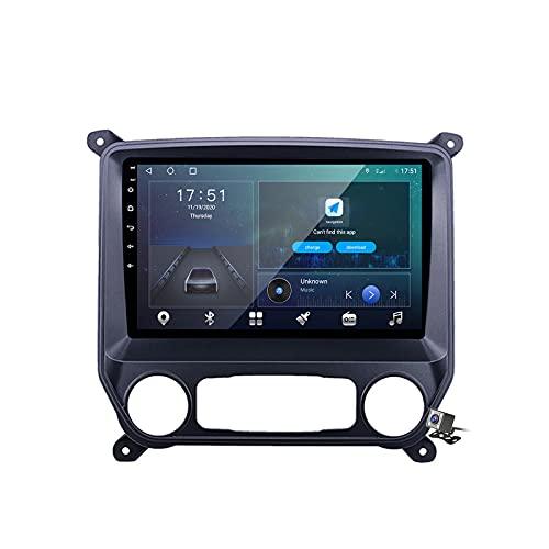 Buladala Android 10 MP5 Player GPS Navegación para Chevrolet Silverado 3 2013-2019, Soporte WiFi 5G DSP/FM RDS Radio de Coche Estéreo/BT Hands-Free Calls/Control del Volante/Carplay Android Auto,M300