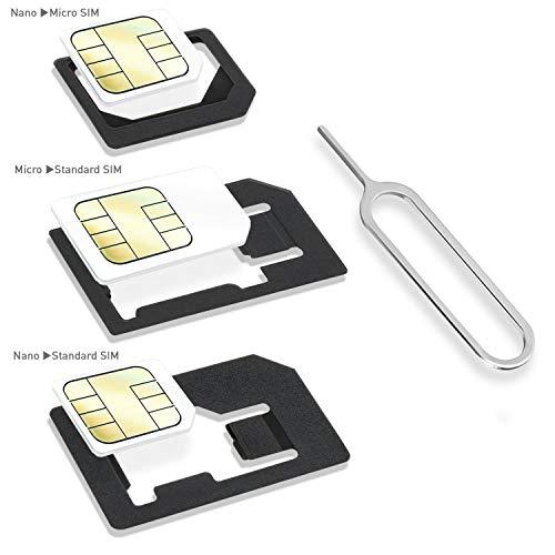 Wicked Chili Dual Sim Stanze und 4in1 Sim Karten Adapter Set (Nano, Micro, Standard, Eject Pin) für Handy, Smartphone und Tablet - 2