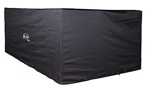 Bâche de protection 2,1 x 1,3 x 0,8 m - qualité d`hiver, couleur noir pour meubles de jardin
