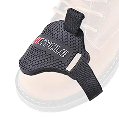 CHCYCLE Motorcycle Motorbike Shift Pad Shoe Boot Cover Protective Gear Black by Lening