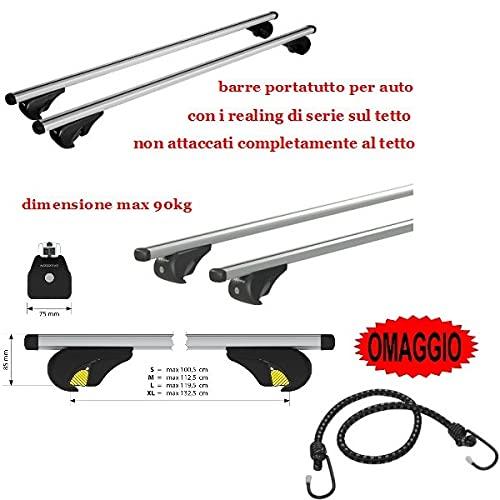 Compatible con Hyundai H1 10/97>01/08 Racks DE Techo para Coche Barra DE 110CM para Coches con Altas BARANDAS NO Adjuntas Totalmente AL Rack Roof Roof Rack Aluminio 90KG
