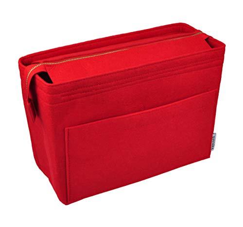 Vercord Felt Zipper Handbag Tote Purse Duffel Backpack Organizer Insert Red Medium