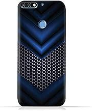 جراب حماية سيليكون لهاتف Huawei Honor 7C TPU من AMC Design مع نمط شبكي أزرق تجريدي