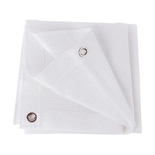 X-L-H Tarpaulin Wasserdicht Qualität Schatten Netze Verschlüsselung Dicker 6-Pin Weiß UV Sonnenschirm Netto-Rate Von 95% A+ (Size : 3.8x6m)