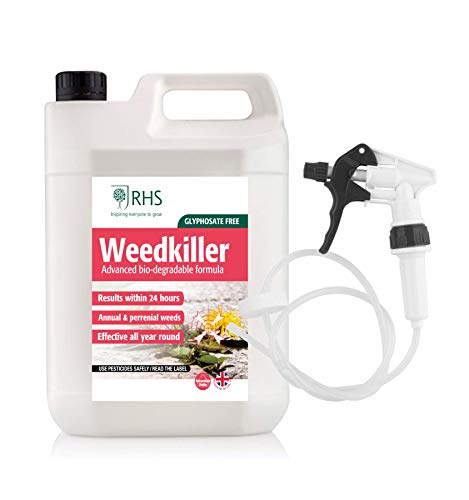 RHS - Fast Acting Weedkiller - 5L Ready to use with Long hose trigger spray - Advanced Glyphosate Free Formula - See results within within 24h
