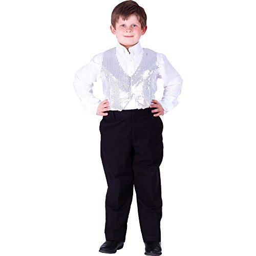 Dress Up America - Chaleco de Lentejuelas para niños, Color
