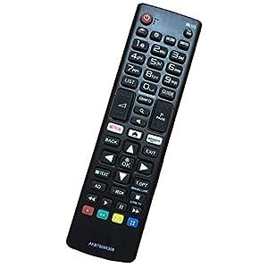 Reemplazo Mando Televisión LG AKB75095308 AKB74915324 Ajuste para Mando LG Smart TV Varios TV Ultra HD de LG con Netflix Amazon Botones - No se Requiere configuración