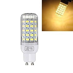 Grossartig GU10 Dimmable 6W AC110V Ampoule LED de Haute qualité Blanc/Blanc Chaud 60 SMD 5730 de maïs Lampe (Color : Warm White GU10)